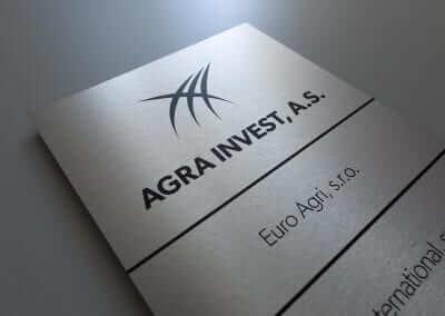 Informačná tabuľa Agra Invest