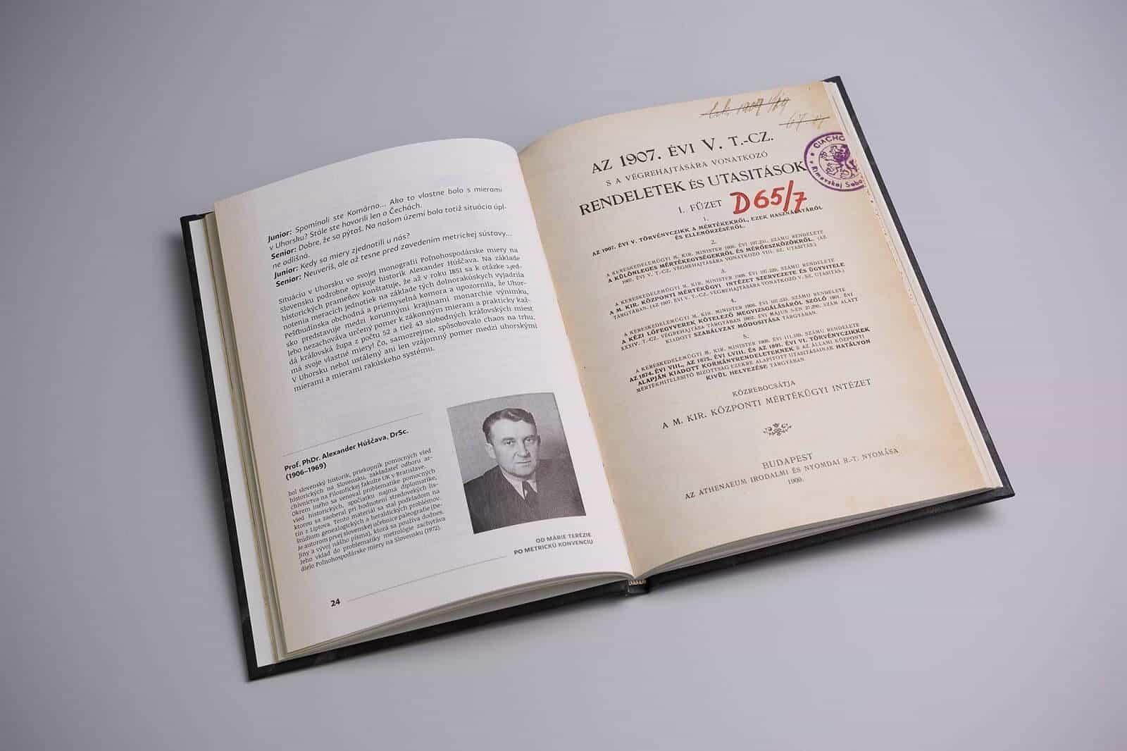 Kniha Rozhovory o metrológii - vnútorná dvojstrana 1