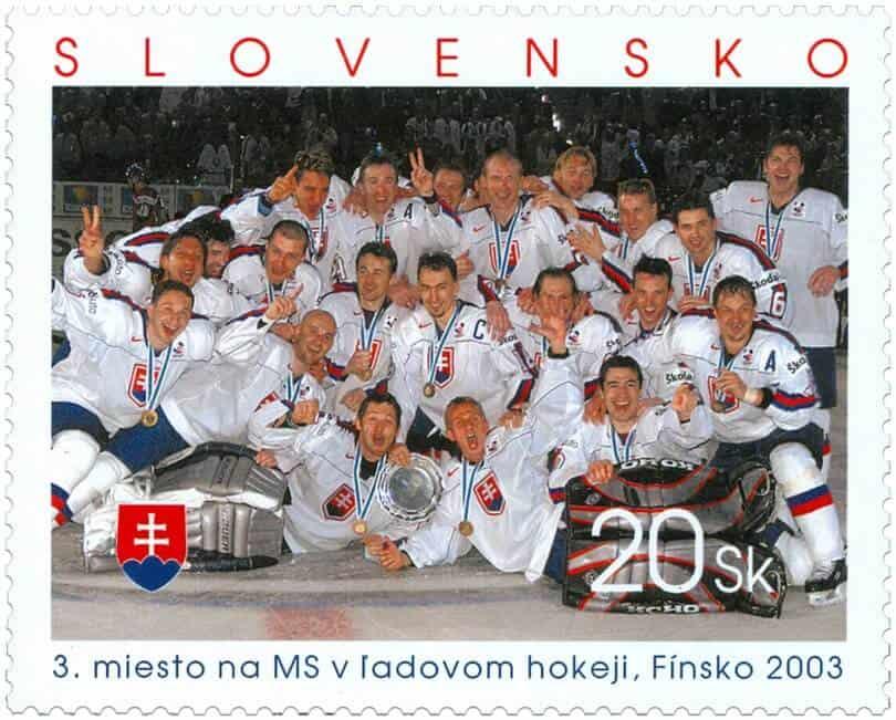 Poštová známka - MS v ľadovom hokeji, Fínsko 2003