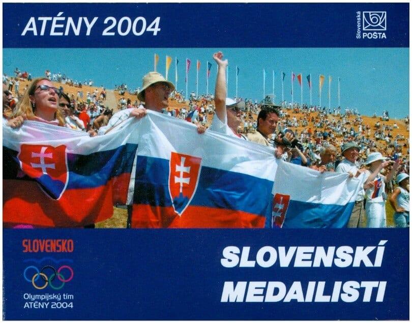 Poštová známka Atény 2004 - slovenskí medailisti