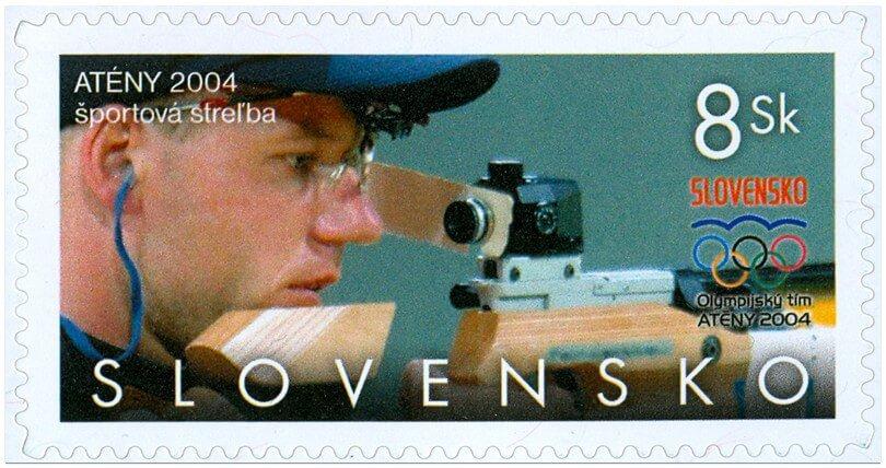 Poštová známka Atény 2004 - športová streľba