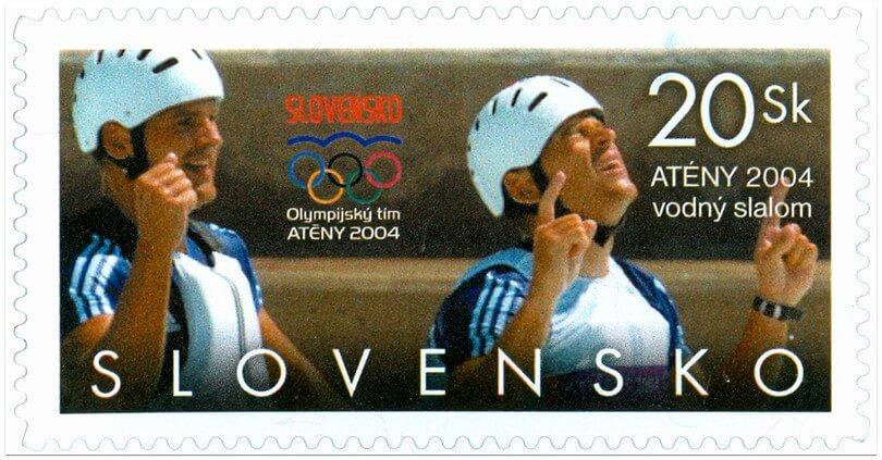 Poštová známka Atény 2004 - vodný slalom