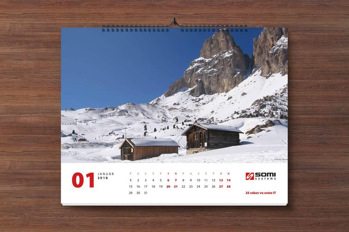 Kalendár na rok 2018 - januárový list