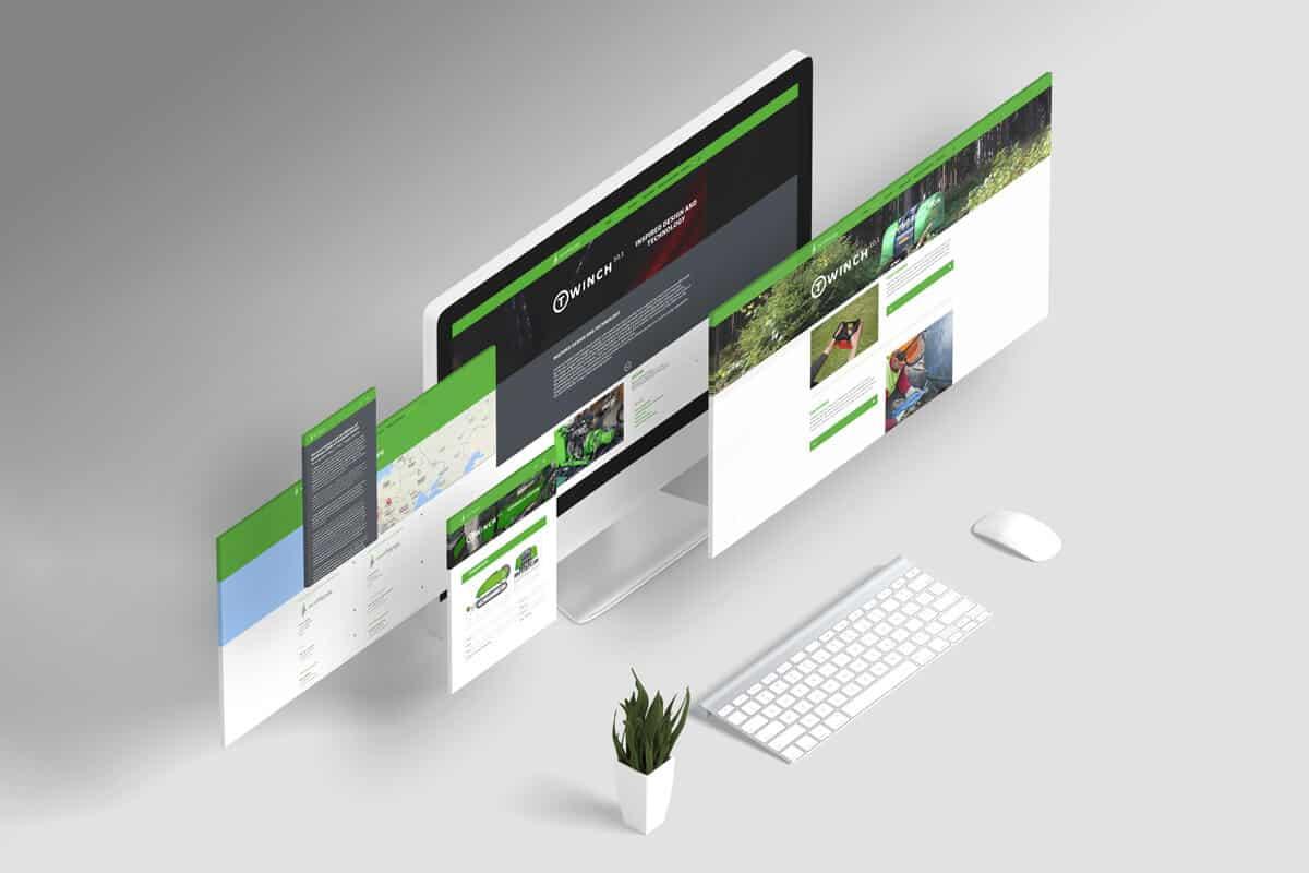 Webstránka ecoforst - zobrazenie na monitore