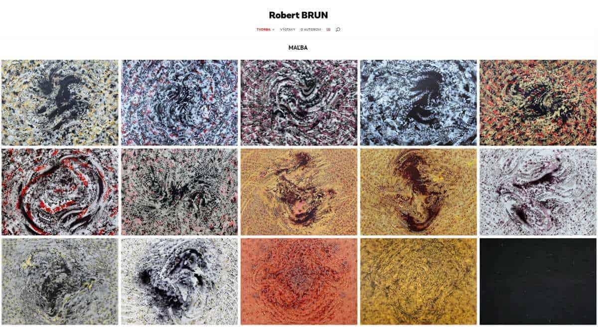 Webstránka Robert Brun - homepage