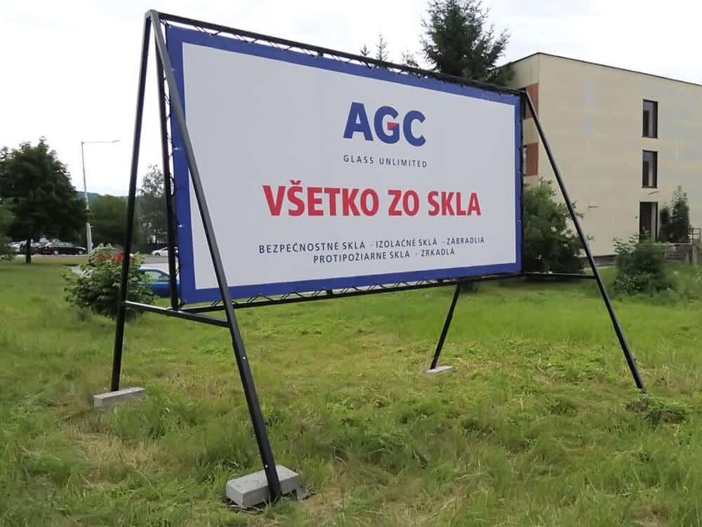 Reklamné tabule - mobilný bilbord AGC 2