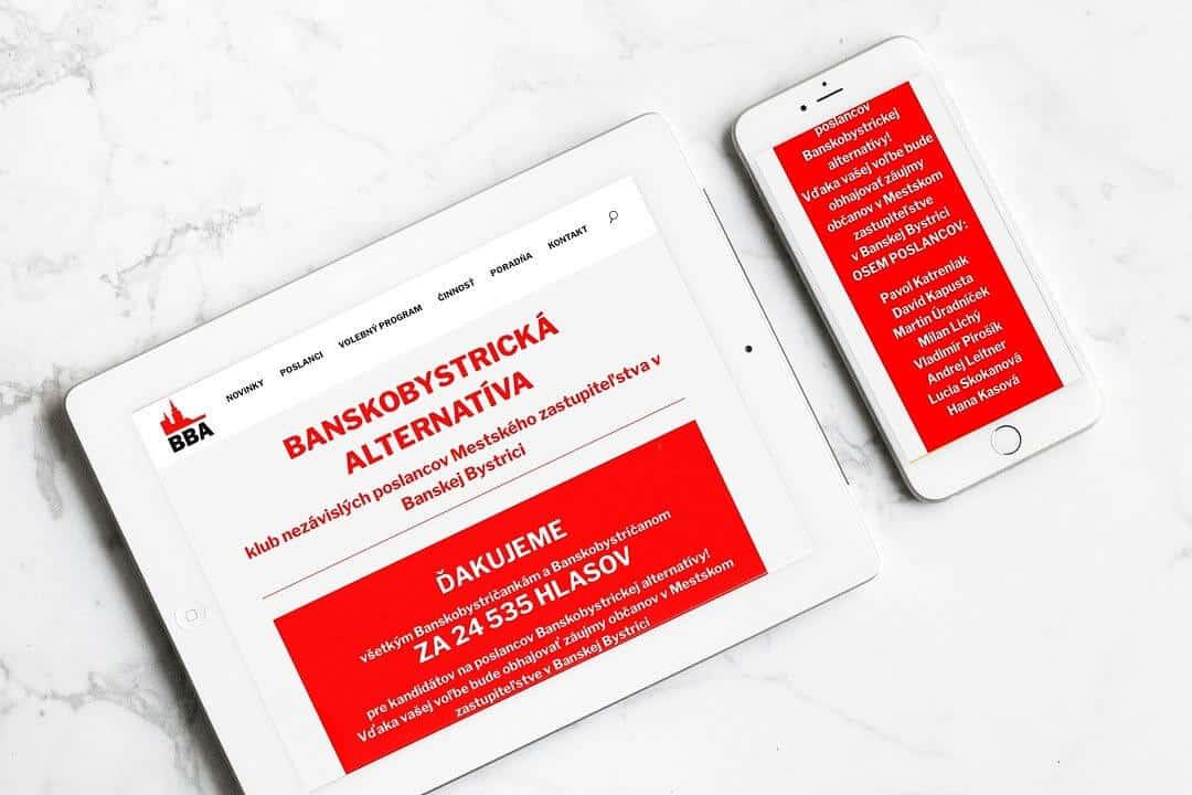 Webstránka Banskobystrická alternatíva 3
