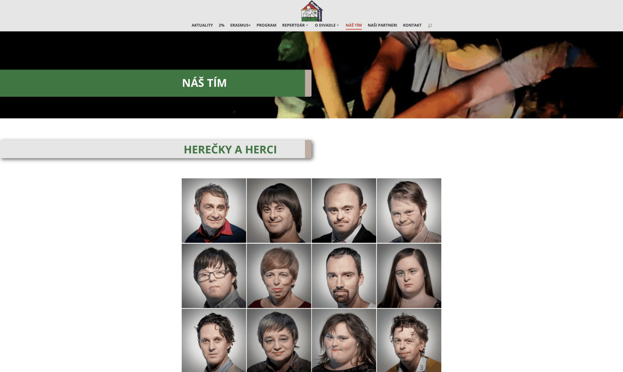 Webstránka Divadlo z Pasáže 1