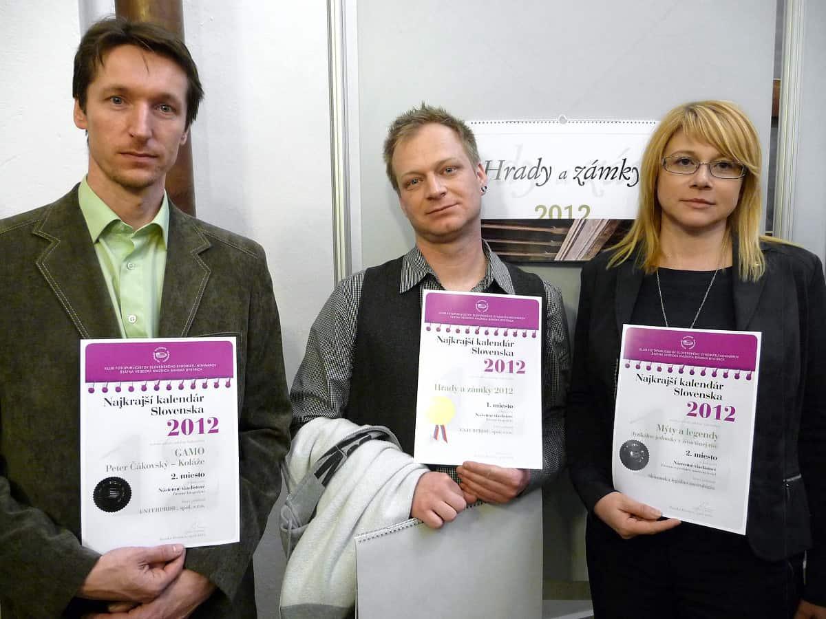 Diplomy za ocenené kalendáre - rok 2012.