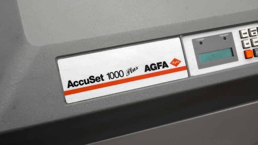 Riadiaci panel osvitky AGFA Accuset 1000 WE Plus