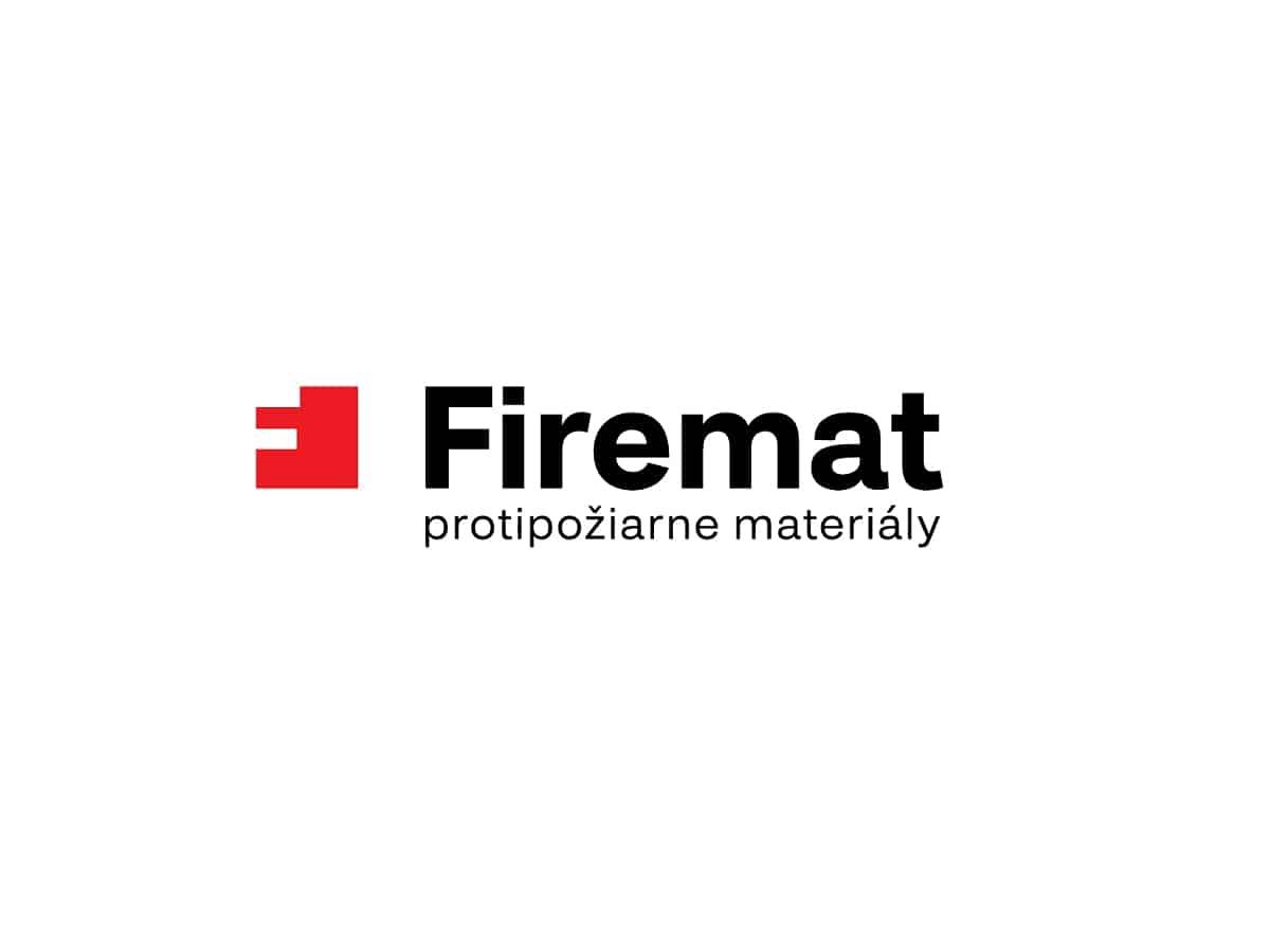 Logotyp Firemat - farebná verzia s doplnkovým textom