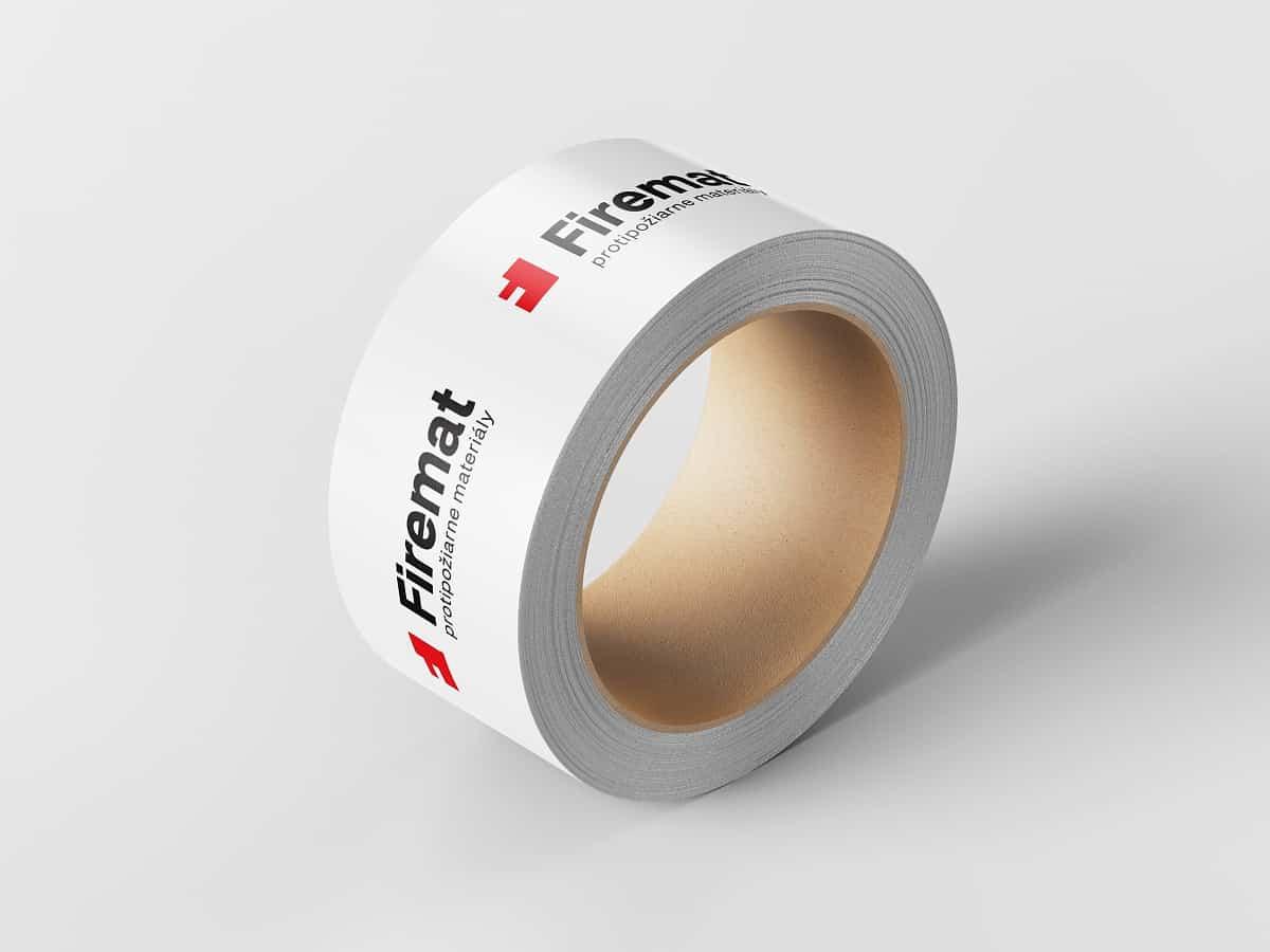 Logotyp Firemat - aplikácia na páske