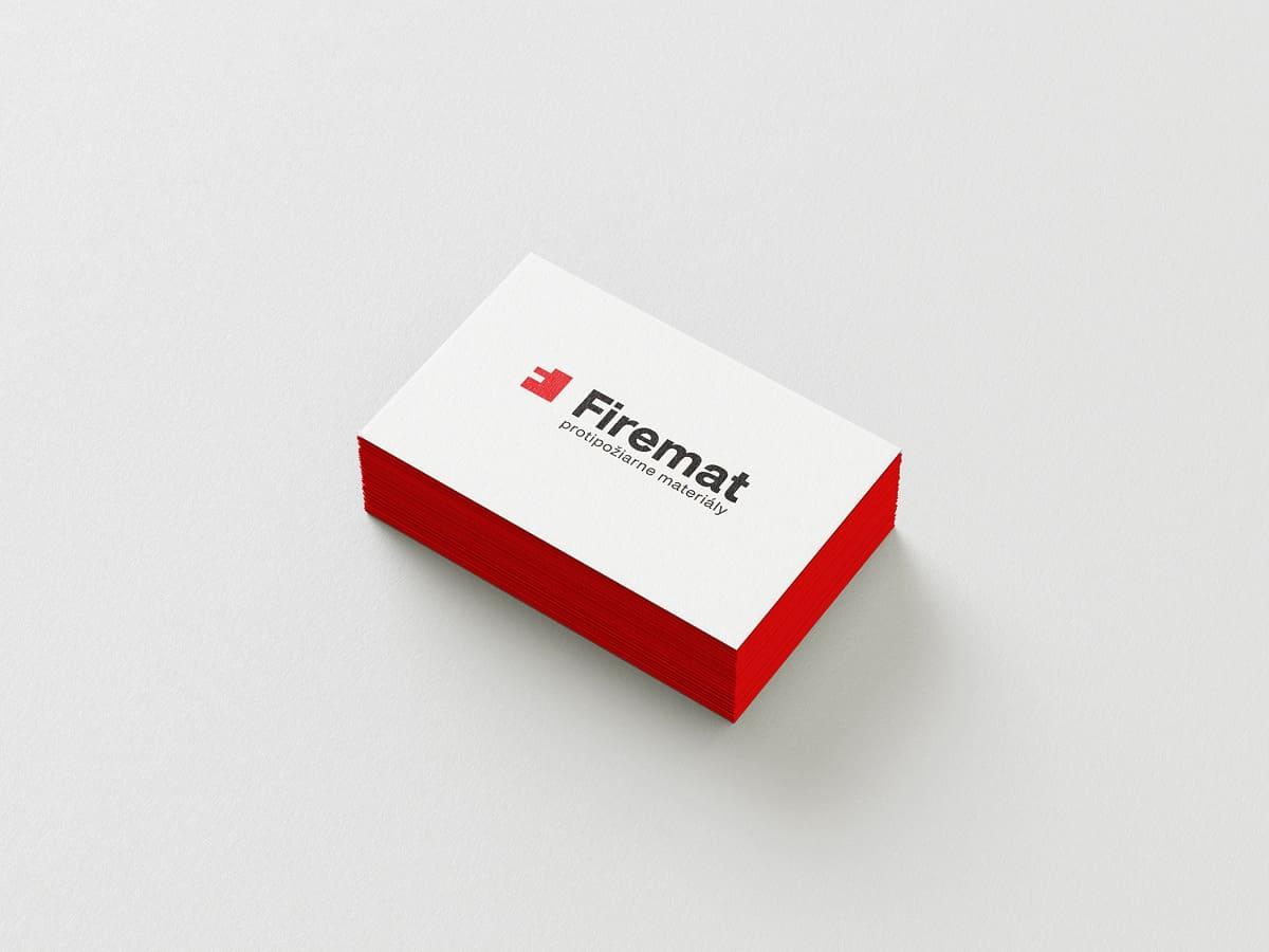 Logotyp Firemat - aplikácia na vizitkách
