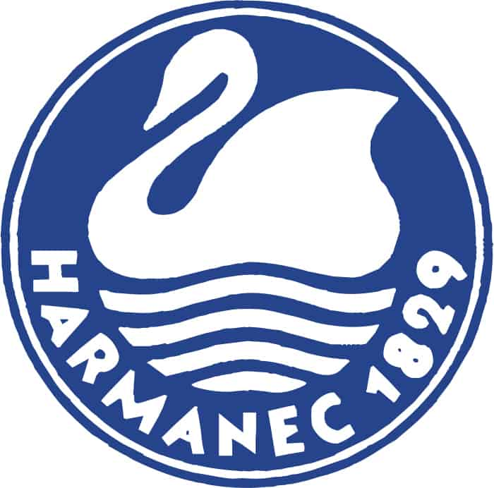 logotyp Harmanec po redizajne 1992